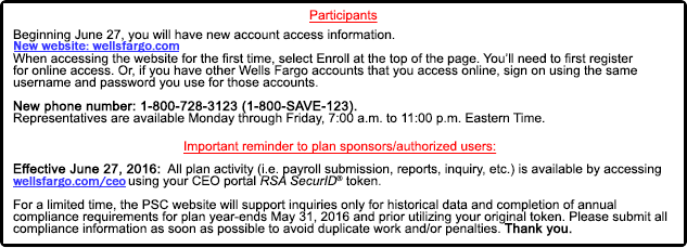 Important Account Information Notice